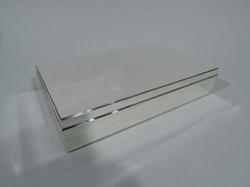 Large and Heavy Sterling Silver Desk Box by Tiffany