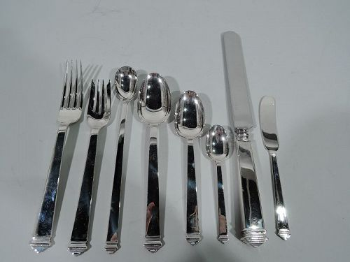 Tiffany Hampton Sterling Silver Dinner Set with 92 Pieces