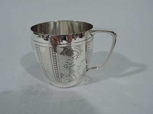 Tiffany Modern Sterling Silver Baby Cup for Sporting Tot