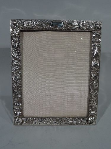 Antique Repousse Sterling Silver Picture Frame by Stieff of Baltimore