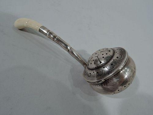 Early Georg Jensen Art Nouveau Sterling Silver Tea Infuser