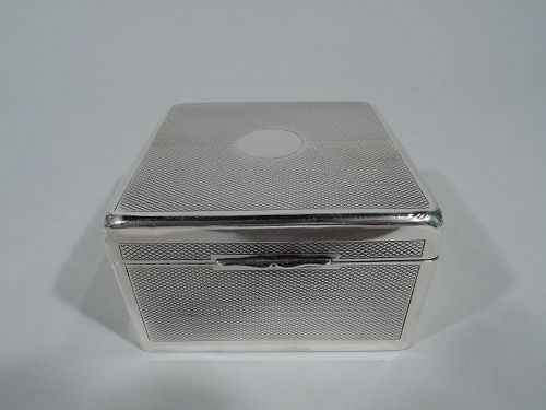 Antique Smart and Compact English Sterling Silver Box 1899