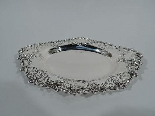 Fancy Antique American Sterling Silver Serving Dish by Howard & Co.