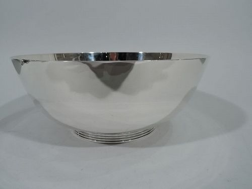 Cartier Art Deco Modern Sterling Silver Bowl