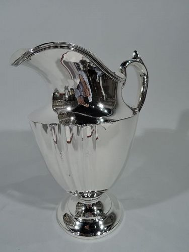 Antique American Art Deco Sterling Silver Water Pitcher