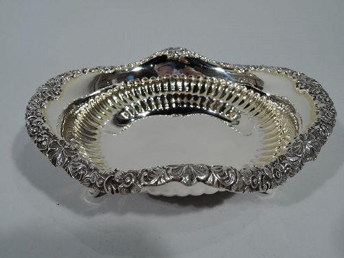 Pretty Antique Tiffany Sterling Silver Bowl