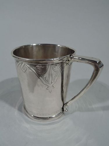 Antique American Coin Silver Baby Cup