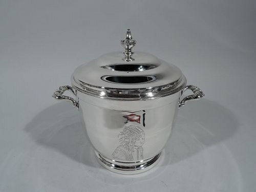 American Midcentury Modern Sterling Silver Indian Chief Ice Bucket
