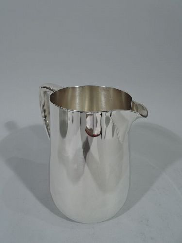 Tiffany Art Deco Modern Sterling Silver Water Pitcher