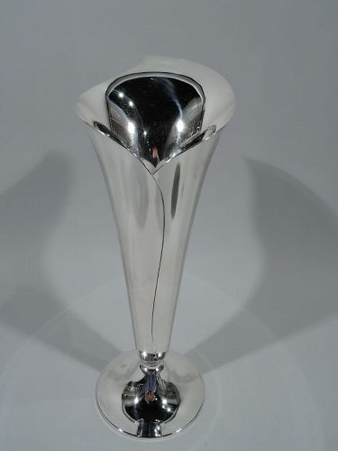 Tiffany Midcentury Modern Abstract Leaf-Wrapped Vase