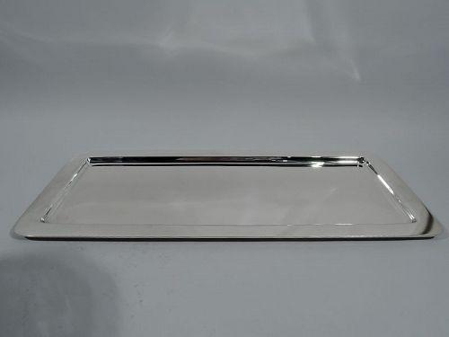 Tiffany Midcentury Modern Sterling Silver Rectangular Bar Tray