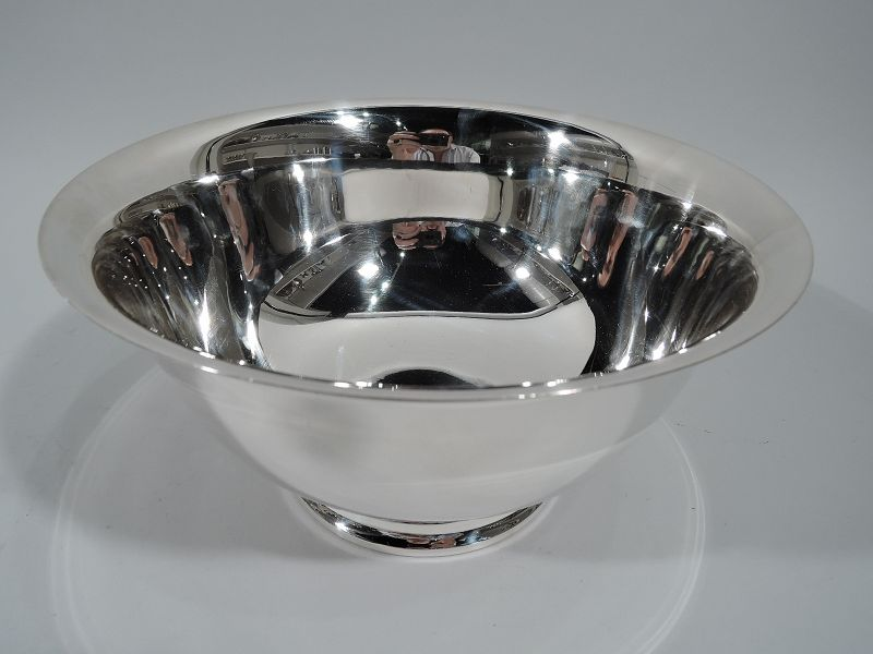 Traditional American Sterling Silver Revere Bowl