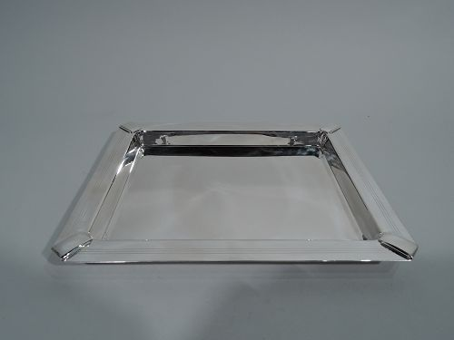 Tiffany Retro Art Deco Style Sterling Silver Deep Rectangular Tray