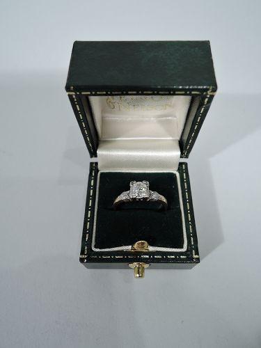 Sweet Antique American 14k Gold Diamond Ring