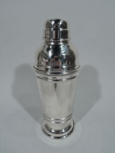 Midcentury Modern Sterling Silver Cocktail Shaker