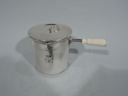 Antique English Empire-Era Sterling Silver Portable Water Heater Pot