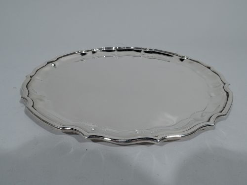 Traditional Georgian Piecrust Sterling Silver Tray by Reed & Barton
