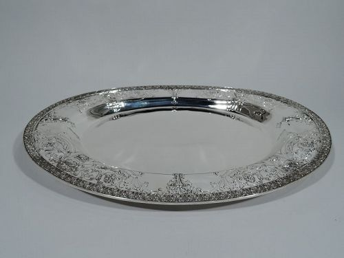 Antique American Regency Revival Sterling Silver Serving Tray