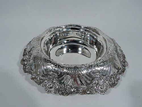 Antique Tiffany Sterling Silver Shell & Scroll Small Centerpiece Bowl