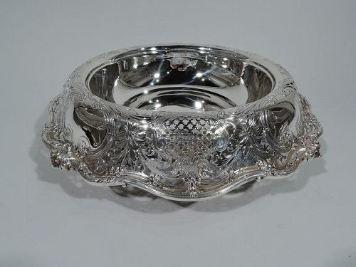 Antique American Sterling Silver Small Centerpiece Bowl by JE Caldwell