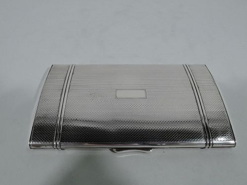 Large American Art Deco Modern Sterling Silver Case