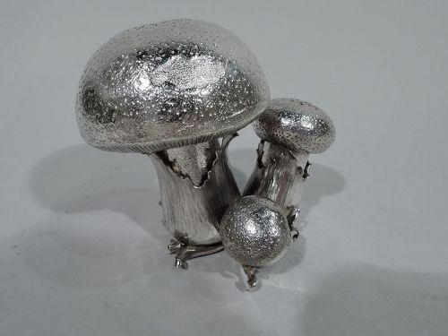Mario Buccellati Sterling Silver  Mushroom Salt & Pepper Shakers