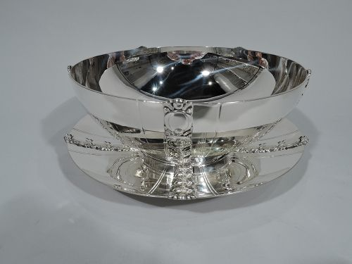 Tiffany Art Deco Tomato Sterling Silver Bowl on Stand C 1945
