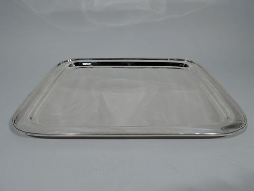 Large Tiffany Art Deco Modern Sterling Silver Serving Tray