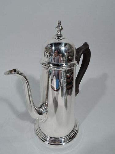Antique Georgian-Style Sterling Silver Coffeepot
