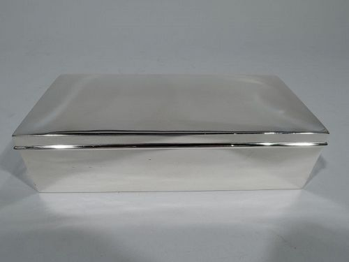 Tiffany Modern Sterling Silver Desk Box