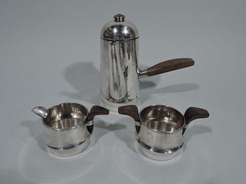 Spratling Midcentury Modern Sterling Silver 3-Piece Coffee Set 1960s