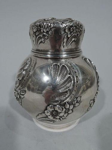 Tiffany Neoclassical Sterling Silver Ginger Jar Tea Caddy C 1877