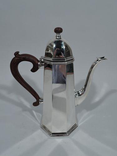 Cartier Modern Georgian Hand Made Sterling Silver Coffeepot