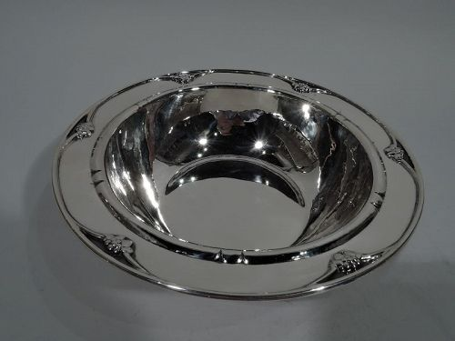 Early Georg Jensen Art Deco Hand-Hammered Sterling Silver Bowl