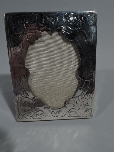 American Art Nouveau Sterling Silver Picture Frame by International