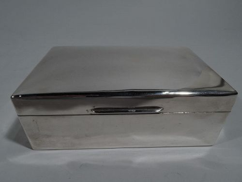 English Modern Sterling Silver Box by Richard Comyns