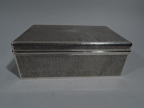 Large Tiffany Art Deco Modern Sterling Silver Box