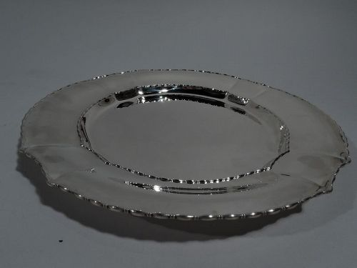Antique Tiffany Marquise Sterling Silver Serving Plate