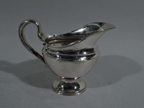 Antique Tiffany American Edwardian Classical Sterling Silver Creamer