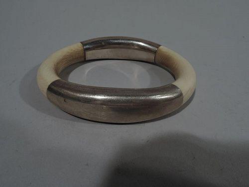 Georg Jensen Midcentury Modern Sterling Silver Bangle Bracelet