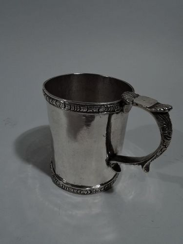 Antique South American Classical Silver Christening Mug C 1850