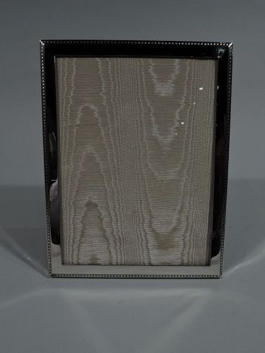 Antique American Classical Sterling Silver Picture Frame