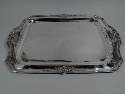 Antique Reed & Barton Sterling Silver Tea Tray in Heritage Pattern