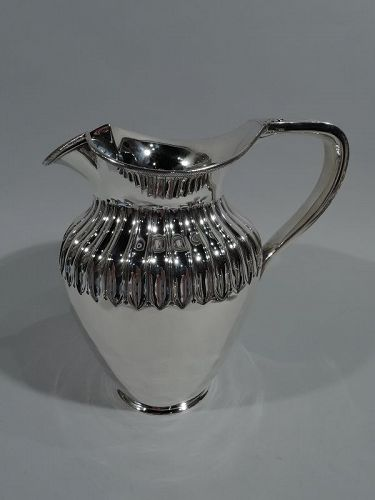 Antique English Classical Sterling Silver Water Pitcher 1880