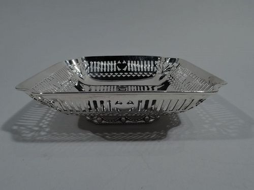 Antique Gorham Regency Revival Sterling Silver Basket Bowl