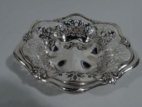 Antique Art Nouveau Pierced Sterling Silver Bowl by Gorham 1908