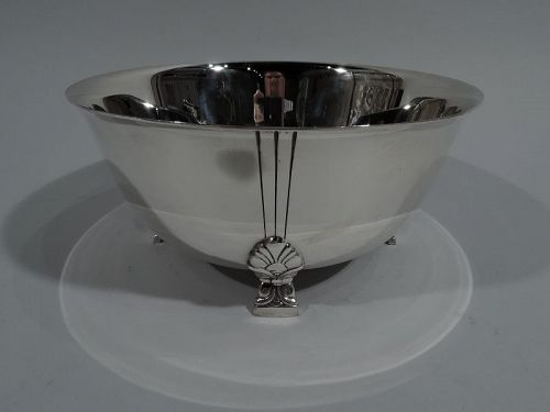 Tiffany Midcentury Modern Sterling Silver Classic Palmette Bowl