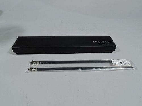Pair of Georg Jensen Acorn Sterling Silver Chopsticks in Box