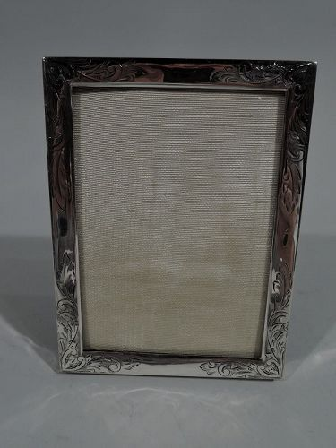 Pretty Antique American Sterling Silver Picture Frame