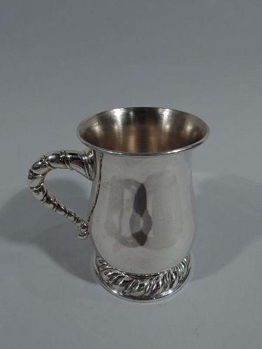 Buccellati Modern Classical Sterling Silver Mug in Torchon Pattern